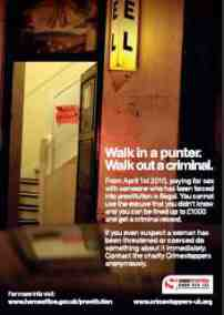 walk in a punter advert