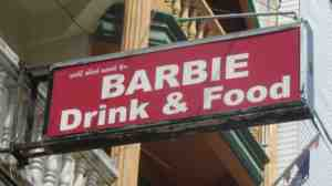 barbie sign