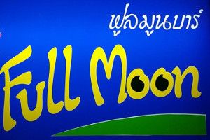 Full Moon Bar sign