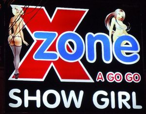 X Zone sign