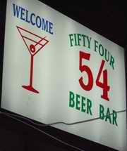 54 Beer Bar sign