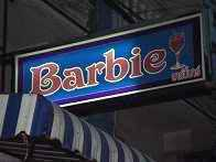 Barbie Bar sign