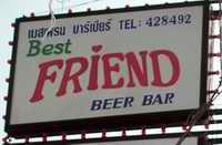 Best Friend bar sign