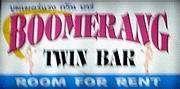 Boomerang bar sign