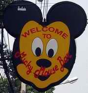 Mickey Mouse sign