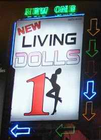 New Living Dolls One sign