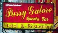Pussy Galore bar sign