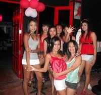 Red Door with girls