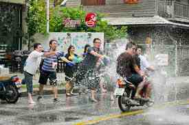 songkran motorcycle