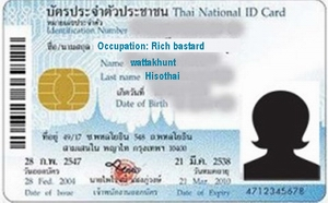 Mock up Thai ID card
