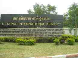 u tapao airport sign