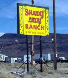 Shady Lady Ranch sign